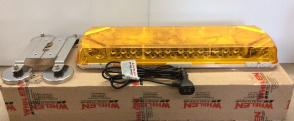 Whelen LED mini light bar AMBER Magnetic Mount 23""
