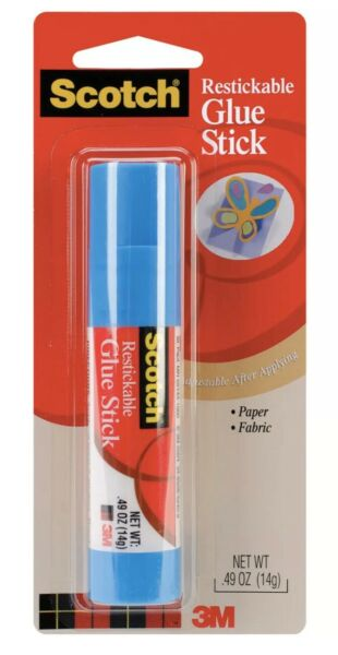 Scotch Restickable Glue Stick .49oz UPC: 051131602106
