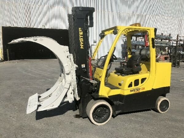 12000 POUND HYSTER MODEL S120FTPRS ROLL CLAMP TRUCK MFG. 2012