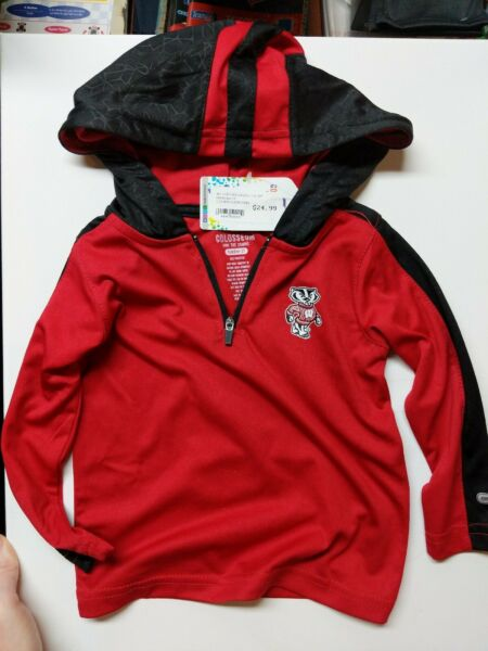 Wisconsin Badgers Pullover Toddler 2T Colosseum Own The Stands New w Tags