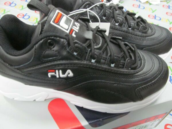 Fila  Women's Disarray Black or white Leather Synthetic Sneakers Shoes PICK SIZE