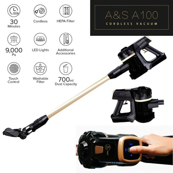 Wholesale A&S A100 Rechargeable Powerful Suction Handy Cordless Vacuum Cleaner