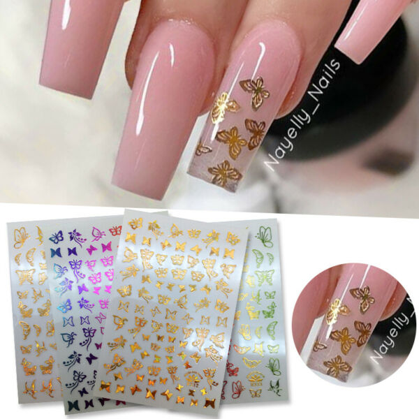 3D Nail Stickers Butterfly Transfer Decals Nail Art Decoration Accessories DIY $0.99