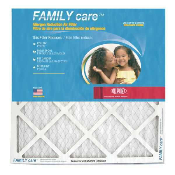 20x24x1 DuPont Family Care Pollen amp; Allergen MERV 8 Air Filters. 6 Pack $32.94