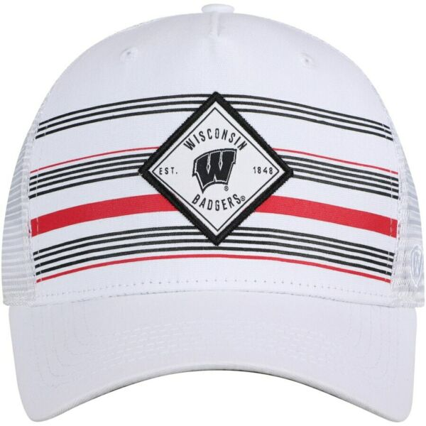 Wisconsin Badgers Hat Cap Snapback Trucker Mesh Adjustable One Size Fit Most NWT