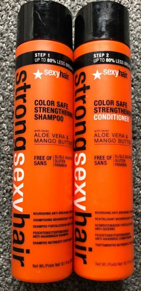 Strong Sexy Hair Color Safe Strengthening Shampoo & Conditioner 10.1oz (2 Pack )