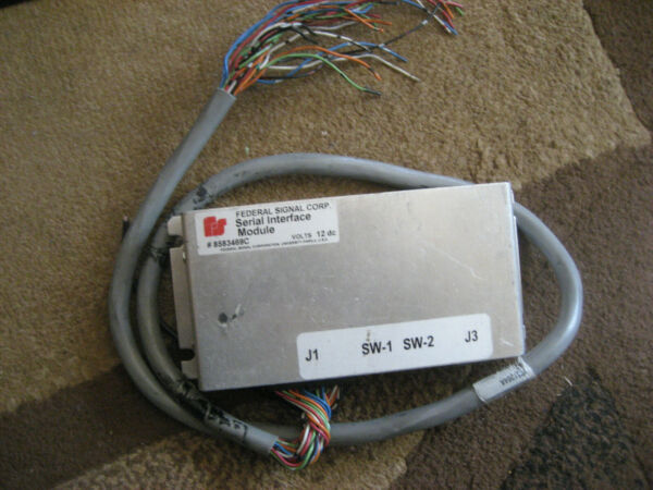 Federal Signal 8583469C Lightbar Serial Interface Module wCable Police 9C1 P71