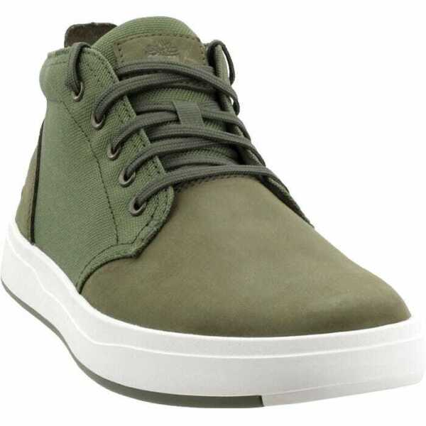TIMBERLAND MEN#x27;S TB0A1Y9EA58 DAVIS SQUARE LEATHER AND FABRIC CHUKKA $59.99