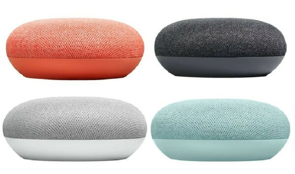 Google Home Mini Smart Speaker with Google Assistant Charcoal Chalk Coral Aqua $18.99