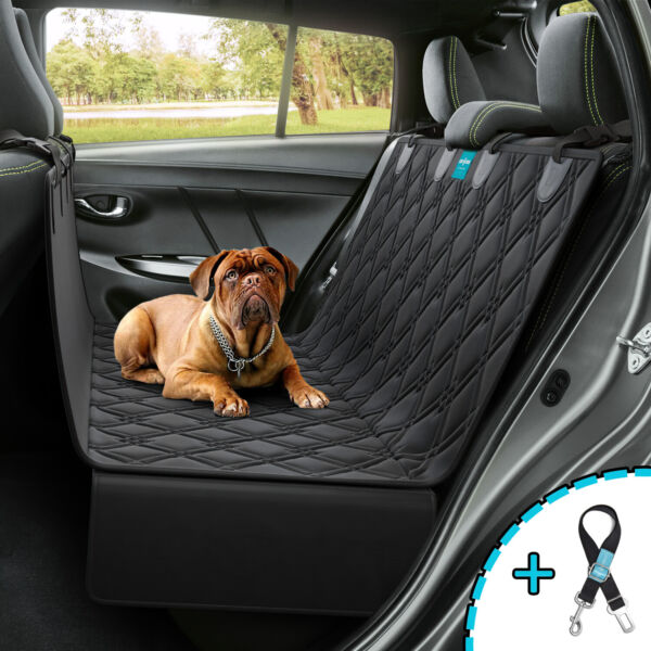 Dog Seat Cover Hammock for BackSeat Durable Waterproof Car Truck Suv Seatbelt $29.98
