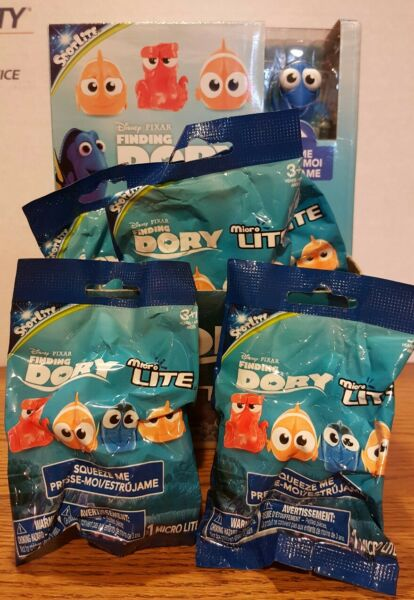 Finding Dory Micro Lite Blind Bags Lot of 5 SEALED AND UNOPENED