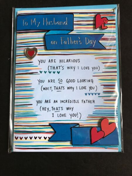 Papyrus Greeting Card - Fathers Day. Retail $6.95 For Husband
