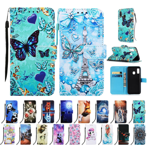 For Samsung Galaxy A10e A20 Card Wallet Flip Leather Phone Stand Case Cover $8.98