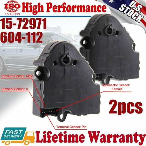 2 Heat Heater A C AC Fan Air Vent Blend Door Actuator for Chevy GMC Pickup Truck $42.45
