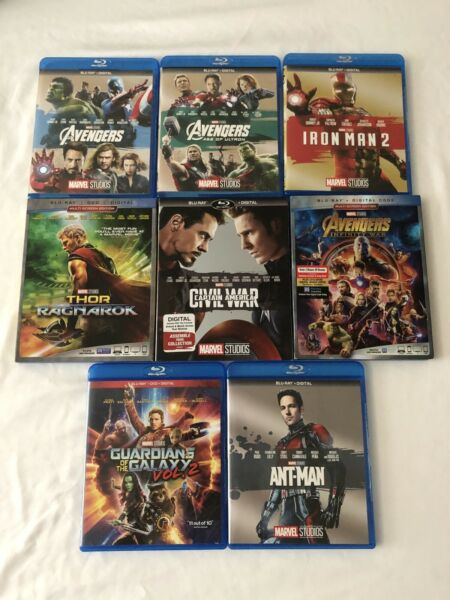 Blu-rayDVD Marvel Movies Lot + Some with Slipcovers! (No Digital)