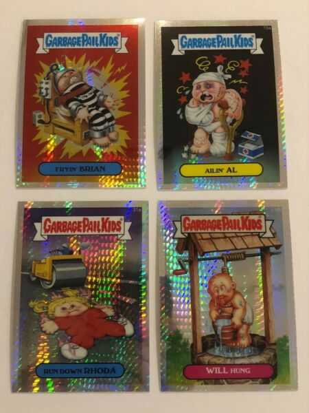 2013 Garbage Pail Kids Chrome Ser. 1 Prisim Refractor x4 150 Packs Fryin' Brian