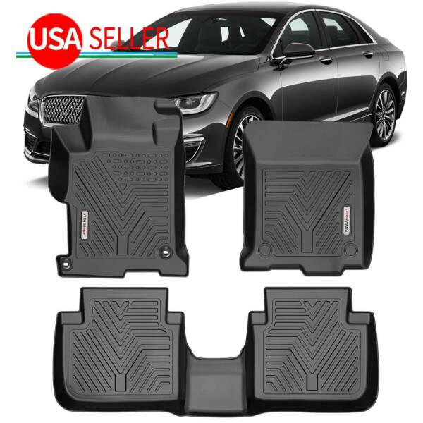 For 2013 2017 Honda Accord Sedan Floor Mats Liner Black TPE Rubber Waterproof