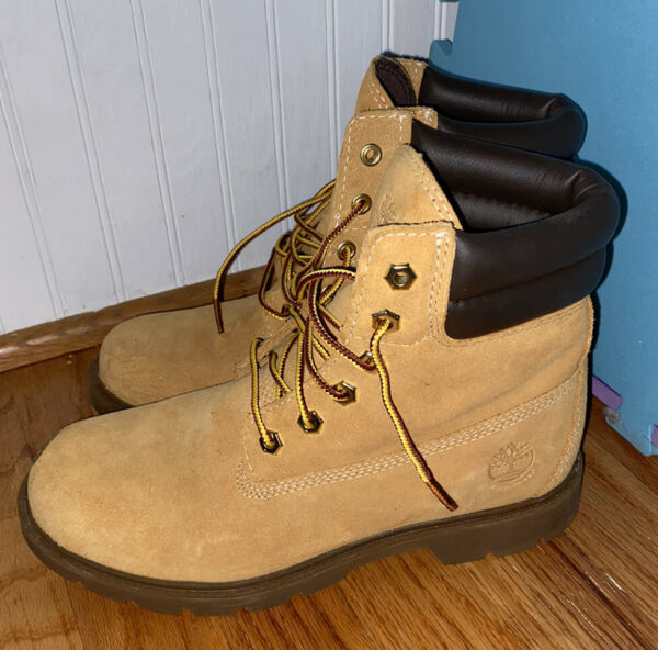 Timberland Womens Boots Size 8 Tan Waterproof Great Condition Barely Worn SeePic $65.00