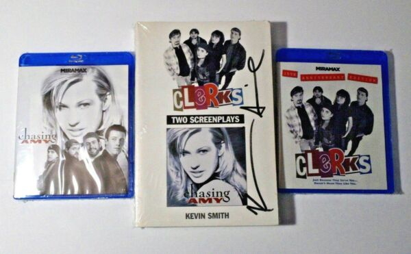Kevin Smith - Chasing Amy - Clerks Blu-ray - Signed Screenplays Bundle - NEW