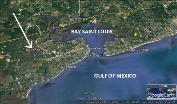 BAY SAINT LOUIS -  NICE LOT -0% FINANCING - LOW PAYMENT