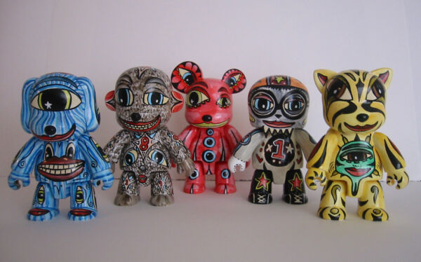 Qee VIGGO HAND PAINTED COLLECTION ORIGINALS SIGNED Vinyl Art Toys