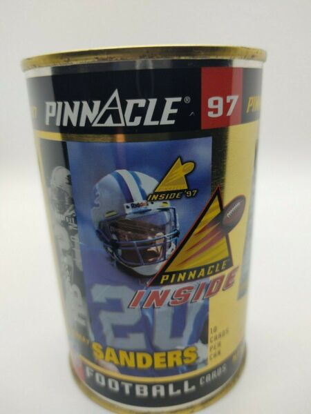 1997 Pinnacle Inside Barry Sanders GOLD SEALED CAN