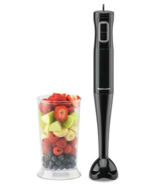 Toastmaster Immersion Hand Blender Mixer Black with 700ml Blending Cup 100W $25.00