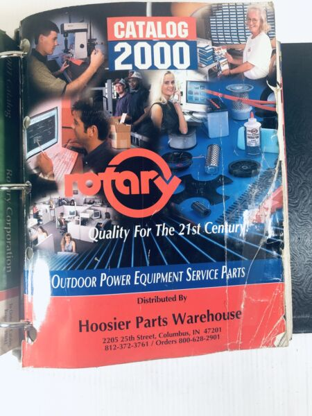 Rotary Outdoor Parts Equipment Service Catalogs 1996 2000 2001 $35.00