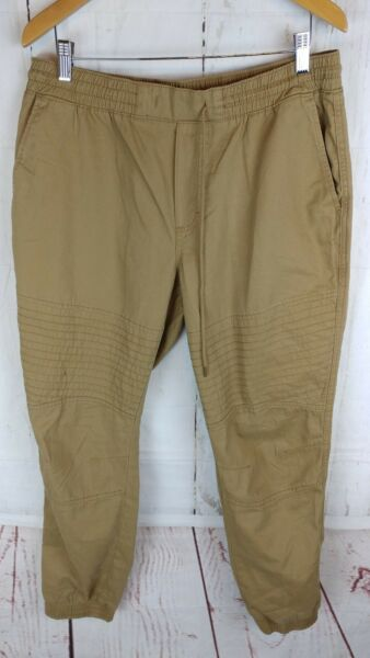 American Rag Mens Size Large Jogger Pants Camel Brown Casual Tapered Leg