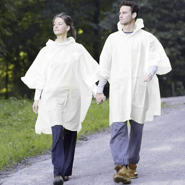 Rain Ponchos for Adults Disposable Waterproof Lightweight 6 Pack Rain Poncho $9.99