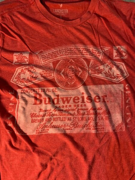 Budweiser Shirt Size Large Beer Pre Owned