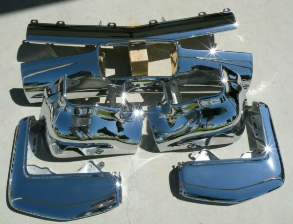 X CADILLAC NEW TRIPLE PLATED CHROME FRONT BUMPER 1962 62 OEM