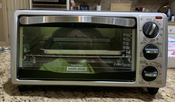 BLACKDECKER TO1313SBD 4 Slice Black Toaster Oven Excellent Condition With Tray