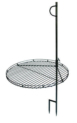 46quot; Portable Swing Away Wood Fire Cooking Grill Grate Campfire Pit Camp Stake