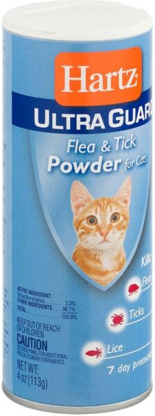 Hartz UltraGuard Flea Tick Powder for Cats 4 oz $6.73