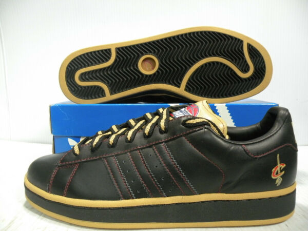 ADIDAS CAMPUS II LOW NBA CAVALIERS SPORT SNEAKERS MEN SHOES BLACK SIZE 11.5 NEW