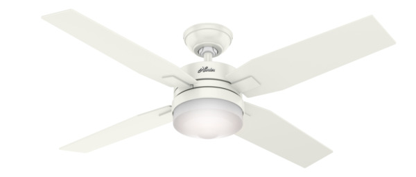 Hunter 59349 Indoor Mercado Ceiling Fan with LED Light White