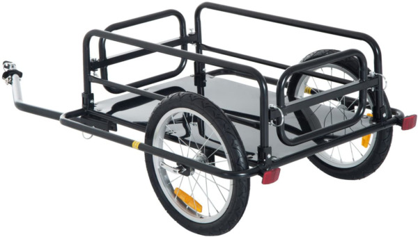 NEW Foldable Bike Cargo Trailer Bicycle Cart Wagon Trailer with Hitch Black $206.13