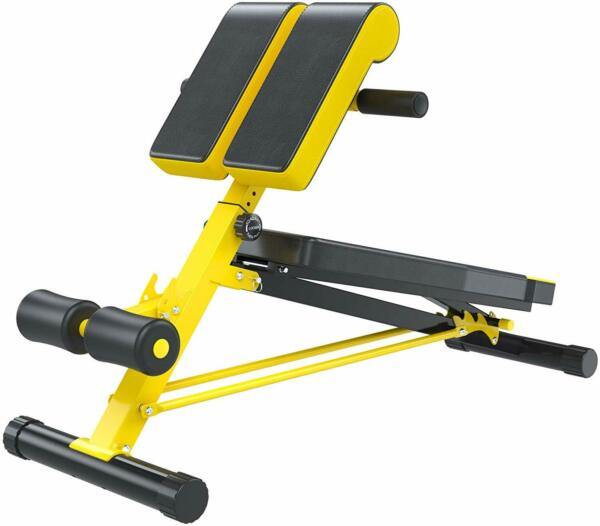 Soozier Folding Adjustable Hyper Extension Bench Dumbbell Weight Ab Multifunctio $240.02