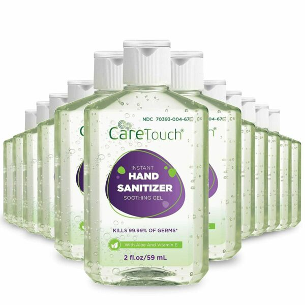 Instant Hand Sanitizer Gel with Vitamin E and Aloe Vera 12-Pack 2oz