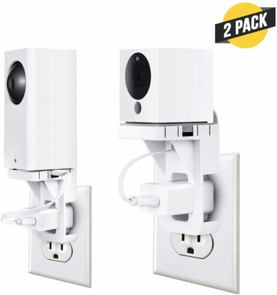 AC Outlet Wall Mount for Wyze Cam amp; Wyze Cam Pan Socket Bracket Holder 2 Pack $18.99