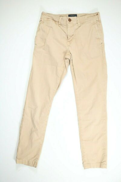 Mens American Eagle Beige Casual Chino Pants 28x32 (Flat Front) EUC