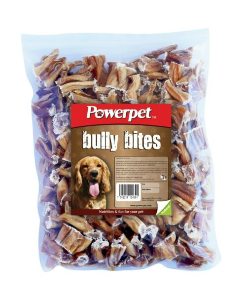Powerpet Bully Bites Natural Dog Chew 1lb Pack Odorless BRC Certified $16.80