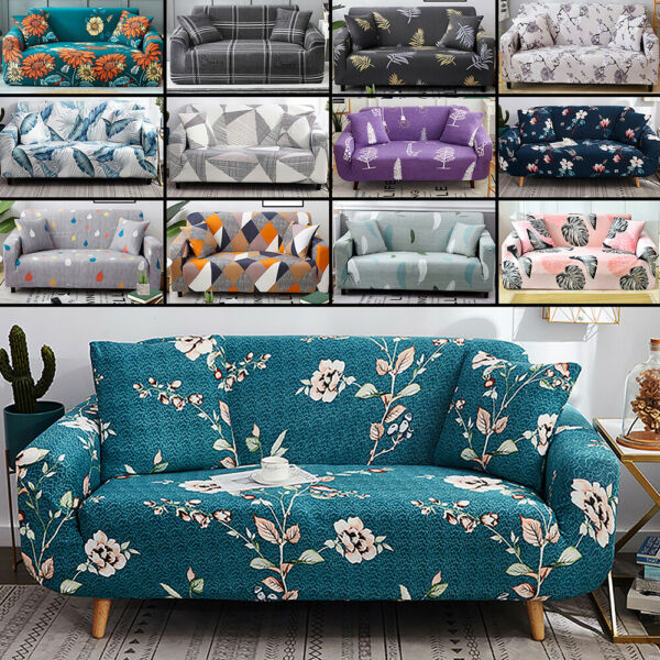 16 Styles 1 4 Seater Floral Stretch Sofa Covers Protector Couch Cover Slipcover $29.92