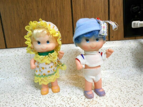 Lot of Two 2 6quot; Vinyl Plastic Dolls Vintage U.D.Co. Nice