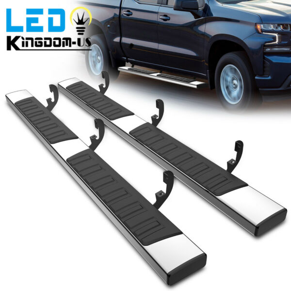 Running Boards for 19 21 Chevy Silverado Sierra 1500 Crew Cab 6quot; Side Step Bars