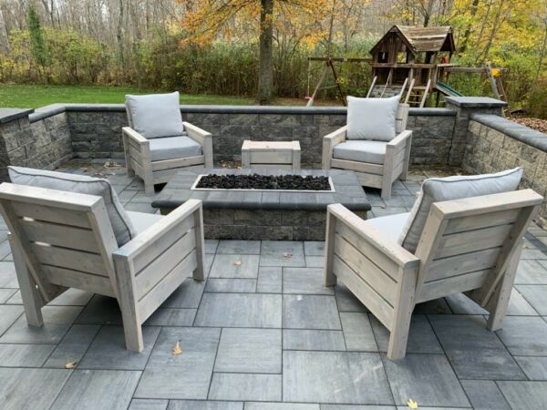 Outdoor furniture. handmade wooden patio porch or backyard chairs. Customizable $389.00