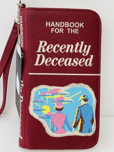 Beetlejuice Handbook For The Recently Deceased Wallet  Wristlet New With Tags