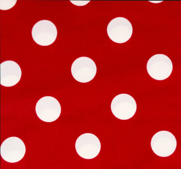 Minnie Dot Hancock Fabric BTHY Red White Large Dots 1⅜quot; Half Yard Cotton HTF OOP