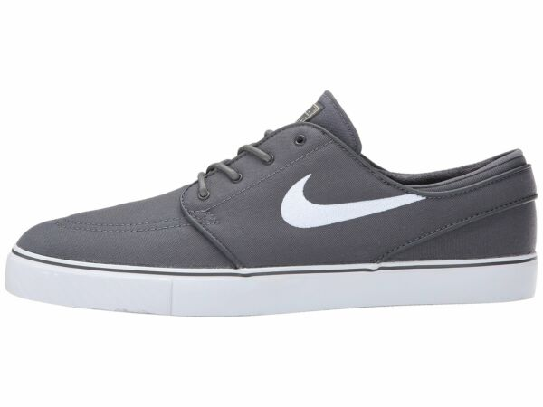 Nike SB Zoom Stefan Janoski Canvas Skate Shoe Grey White Men Sizes 615957 027